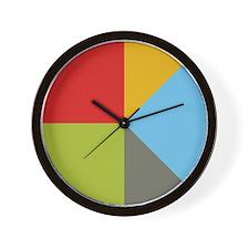 Simple Pie Chart Wall Clock