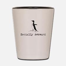 A socially awkward penguin Shot Glass