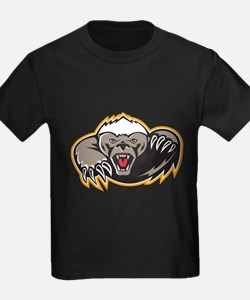 Honey Badger Mascot Claw T-Shirt
