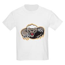 Honey Badger Mascot Claw T-Shirt
