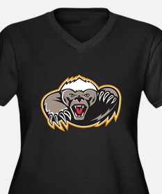 Honey Badger Mascot Claw Plus Size T-Shirt