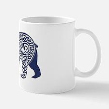 Bear Knotwork Blue Small Mugs