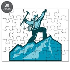 Mountain Climber Summit Retro Puzzle