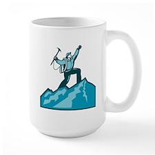 Mountain Climber Summit Retro Mugs