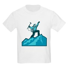 Mountain Climber Summit Retro T-Shirt