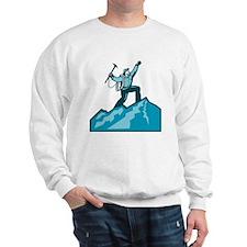 Mountain Climber Summit Retro Sweatshirt