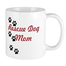 Rescue Dog Mom Small Mug