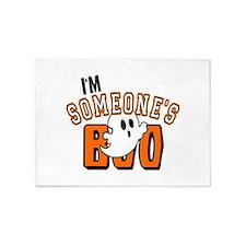 Im Someones Boo Ghost Halloween 5'x7'Area Rug