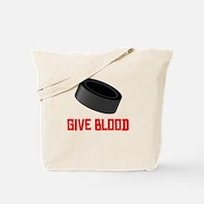 Hockey Give Blood Tote Bag