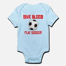 Give Blood Play Soccer Body Suit