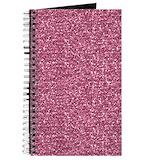 Pink glitter Journals & Spiral Notebooks