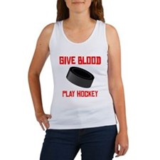 Give Blood Play Hockey Tank Top