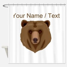 Custom Brown Grizzly Bear Shower Curtain