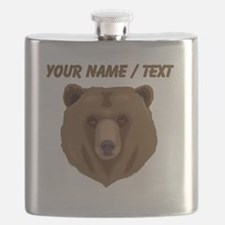 Custom Brown Grizzly Bear Flask
