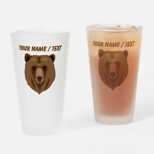 Custom Brown Grizzly Bear Drinking Glass