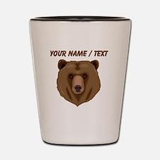Custom Brown Grizzly Bear Shot Glass