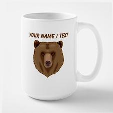 Custom Brown Grizzly Bear Mugs