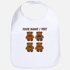 Custom Teddy Bear Bowtie Pop Art Bib