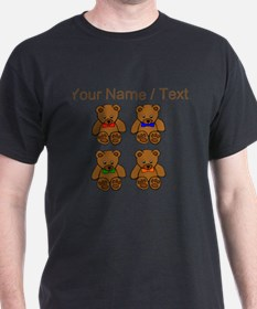 Custom Teddy Bear Bowtie Pop Art T-Shirt
