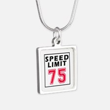 Speed Limit 75 Silver Square Necklace