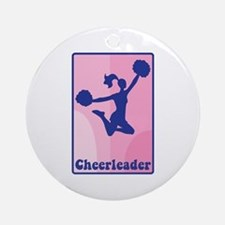 Cheerleader Girl Ornament (Round)