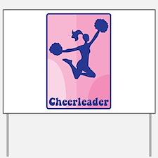 Cheerleader Girl Yard Sign