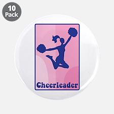 "Cheerleader Girl 3.5"" Button (10 pack)"
