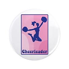 "Cheerleader Girl 3.5"" Button"