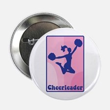 "Cheerleader Girl 2.25"" Button"
