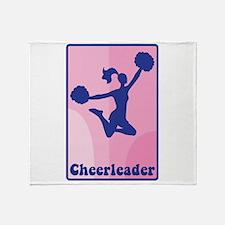 Cheerleader Girl Throw Blanket