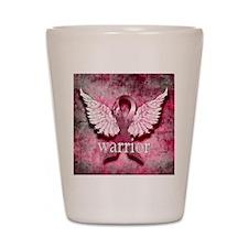 Pink Ribbon Warrior By Vetro Designs Shot Glass