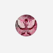 Pink Ribbon Warrior By Vetro Designs Mini Button