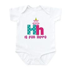 Custom Alphabet Letter H Infant Bodysuit