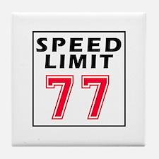 Speed Limit 77 Tile Coaster