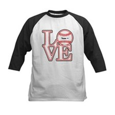 Personalized Front and Back Love Baseball Tee