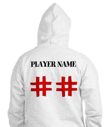 Personalized Front and Back Love Baseball Hoodie