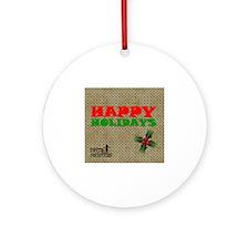 Happy Holidays Round Ornament
