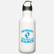BEWARE this dad can dance Sports Water Bottle