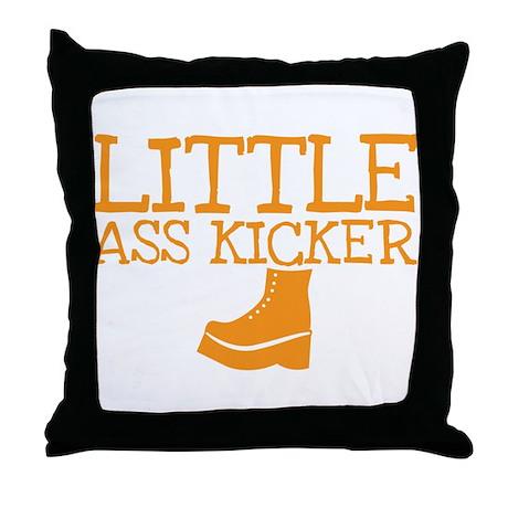 Little ass kicker cute boot baby design Throw Pill