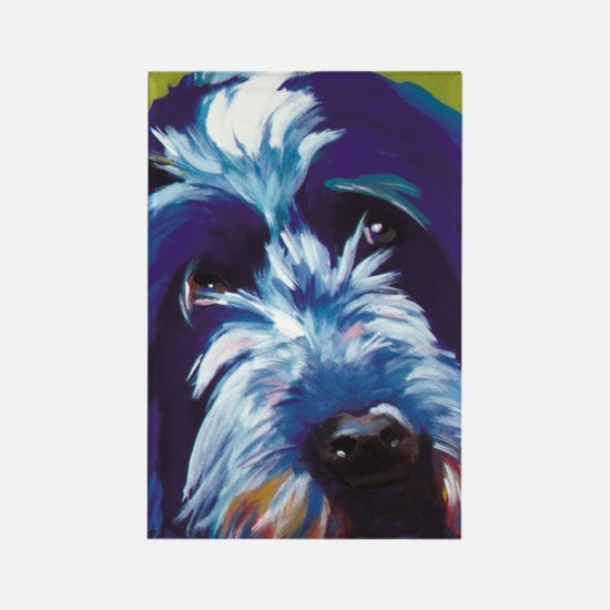 Blue and Lime Wire Haired Griffon Rectangle Magnet