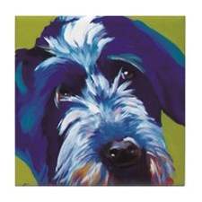 Blue and Lime Wire Haired Griffon  Tile Coaster