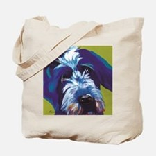 Blue and Lime Wire Haired Griffon  Tote Bag