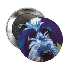 """Blue and Lime Wire Haired Griffon  2.25"""" Button"""