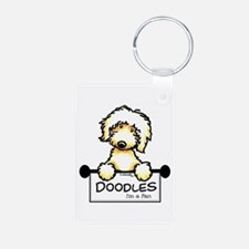 Labradoodle Fan Aluminum Photo Keychain