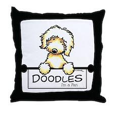 Labradoodle Fan Throw Pillow