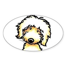 Yellow Labradoodle Face Decal