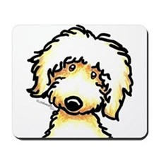 Yellow Labradoodle Face Mousepad