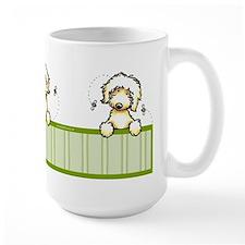 Bee Nice Peeking Labradoodle Mug