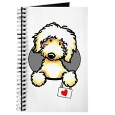 Yellow Labradoodle Heart Journal