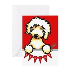 Labradoodle Valentines Day Greeting Card